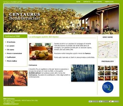 La selvaggia quiete del riposo: online il sito del Bed & Breakfast Centaurus