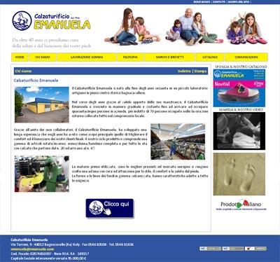 Col nuovo sito del Calzaturificio Emanuela puoi sfogliare il catalogo