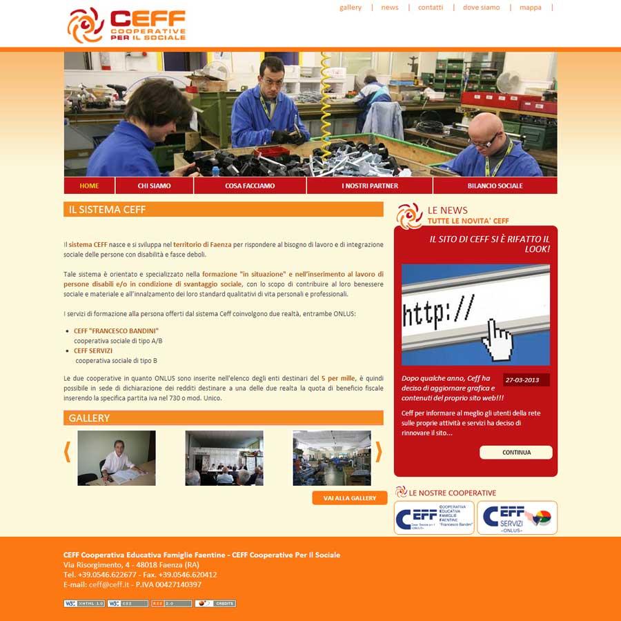 Ceff, Cooperativa Sociale di Faenza sfoggia il nuovo sito web