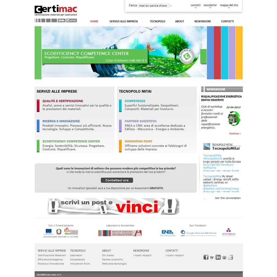 Online il nuovo sito Certimac
