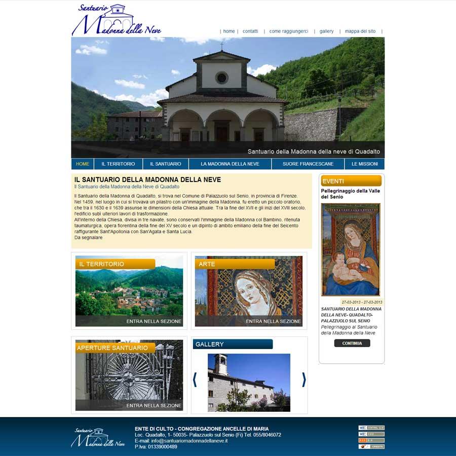 Il Santuario della Madonna della Neve di Quadalto online