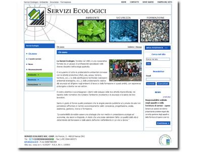 On-line il sito di Servizi Ecologici