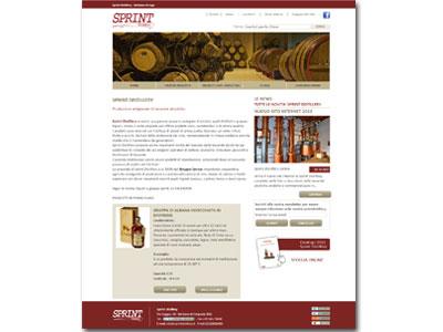 Sprint Distillery, produttori di bevande alcoliche, finalmente online con il nuovo sito web